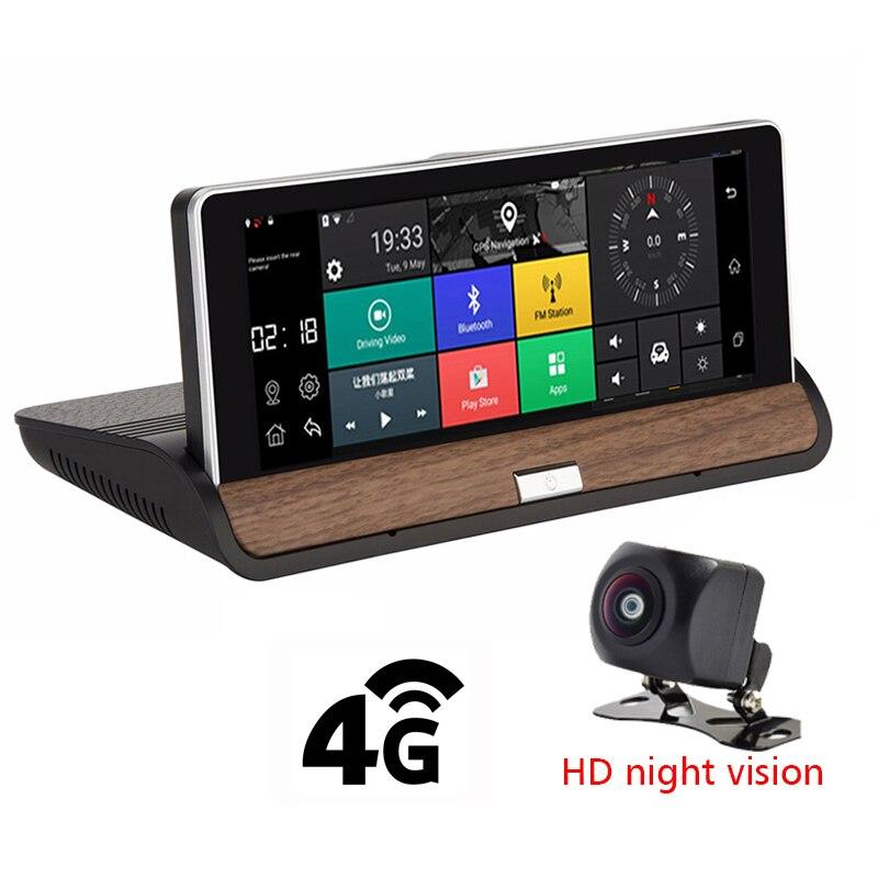 7''1080p шахматная доска 4G Видеорегистраторы для автомобилей Android 5,1 автомобиль зеркало заднего вида монитор Регистраторы автомобиля Assit прило