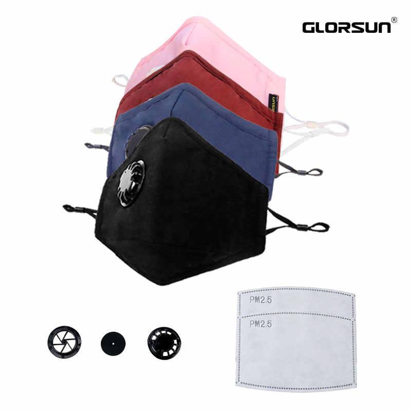 Máscara de contaminación GLORSUN lavable n99 anti pm2.5 filtro de aire de humo para la cara filtro de aire n95 boca moda deporte respiración máscara de carbono