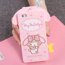 For Huawei Ascend G7 C199 P8 P8 Lite P9 P9 Lite Cover Cute 3D Hello kitty My Melody Bow Cartoon Capa Soft Silicone Phone Case