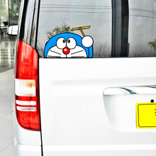 Etie Cartoon Car Sticker Accessories Funny Doraemon Decal Decoration for Motorcycle Mazda Opel Audi Smart Polo Mini Volkswagen(China)