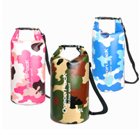 迷彩屋外防水バッグドライバッグバックパックカヤックスポーツポータブル収納キャンプ旅行キット川トレッキングバッグ -