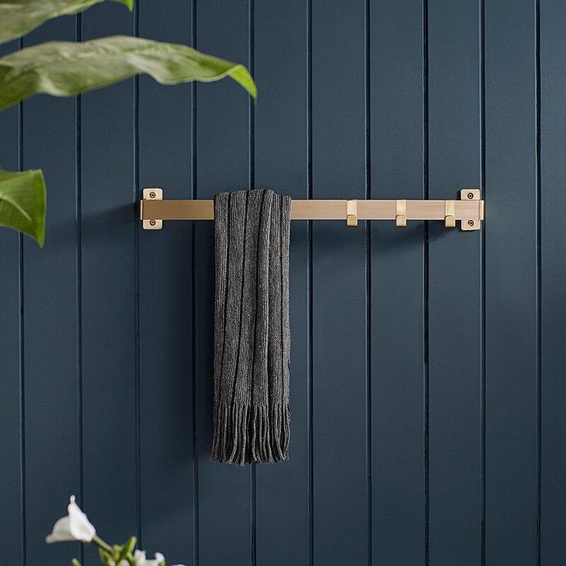 30 cm 60 cm Messing Handdoekhouder Platte Badkamer Hanger Metalen Rek voor Hotel Bar Beugel Luxe Handdoek Houder - 3