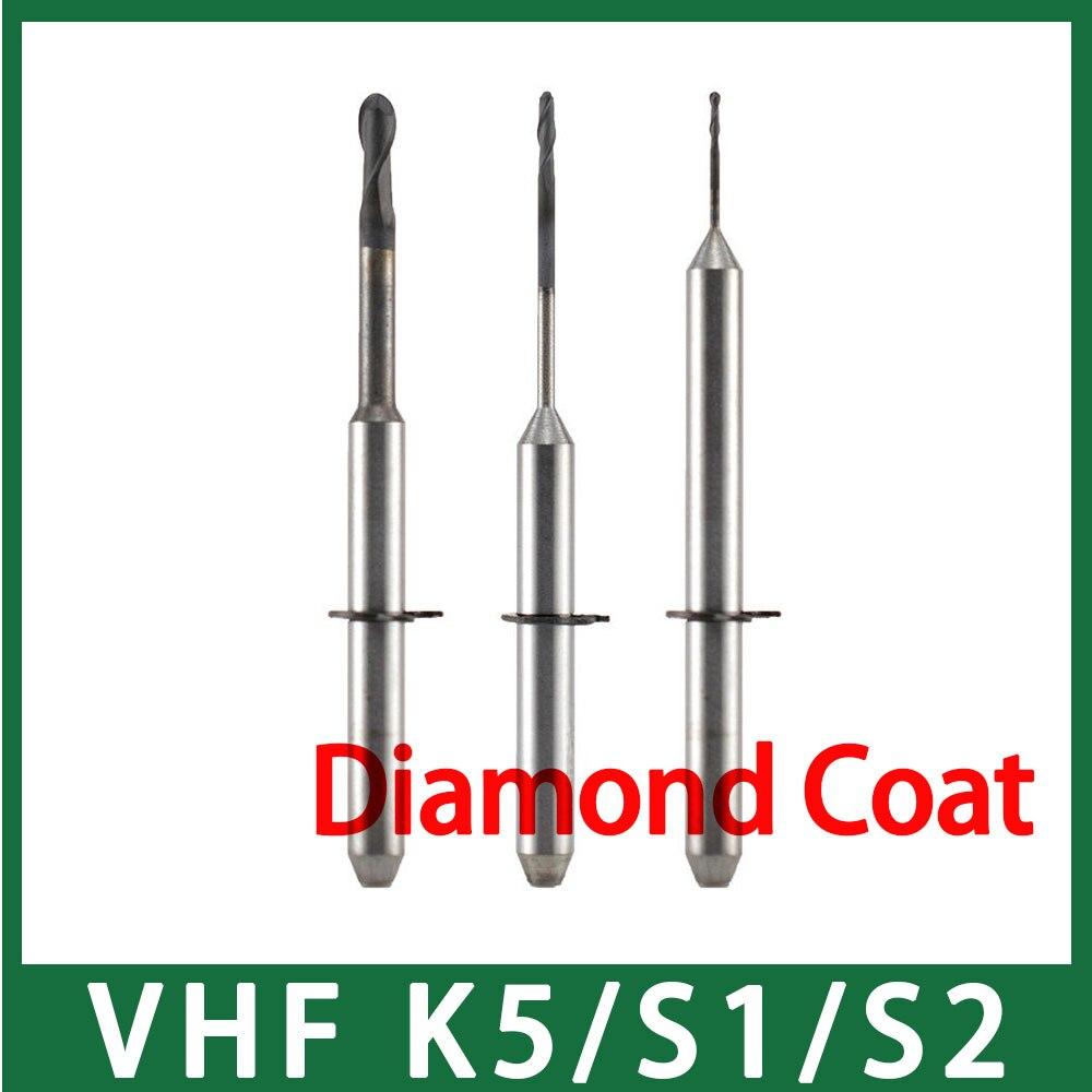 VHF K5/S1/S2 40mm Length Milling Bur with Diamond Coat Long Time ServiceVHF K5/S1/S2 40mm Length Milling Bur with Diamond Coat Long Time Service