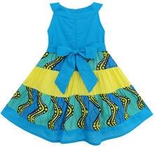 Summer Little Girls Embroidered Flower Cotton Dress Size 12M-5