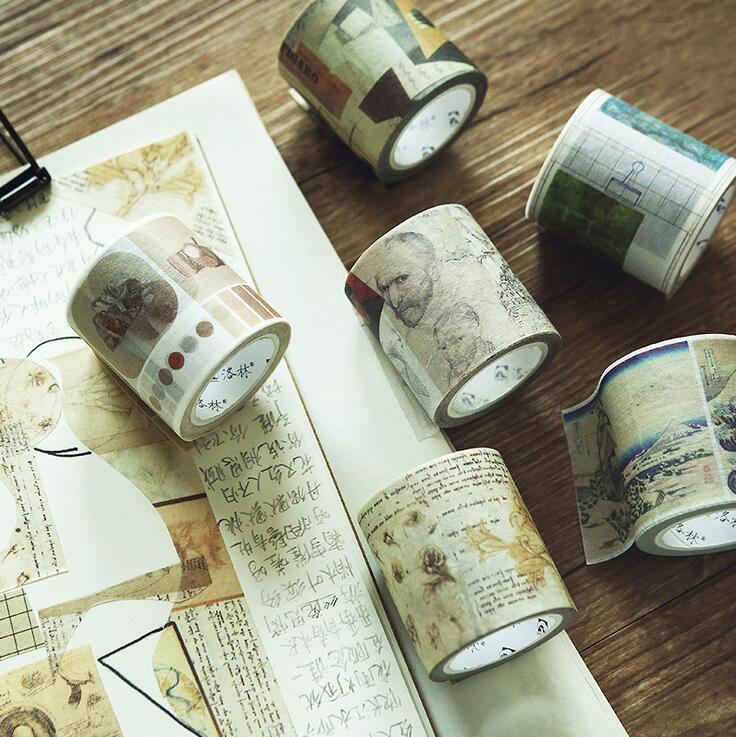 Famous Master Works Washi Tape Adhesive Tape DIY Scrapbooking Sticker Label Masking Tape