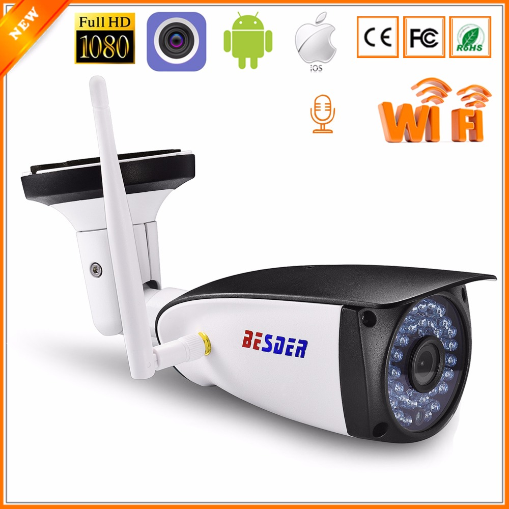 BESDER Audio 1080P HI3518E CamHi APP Wifi Ip Camera CCTV 2MP Outdoor Wireless Surveillance IP Camera