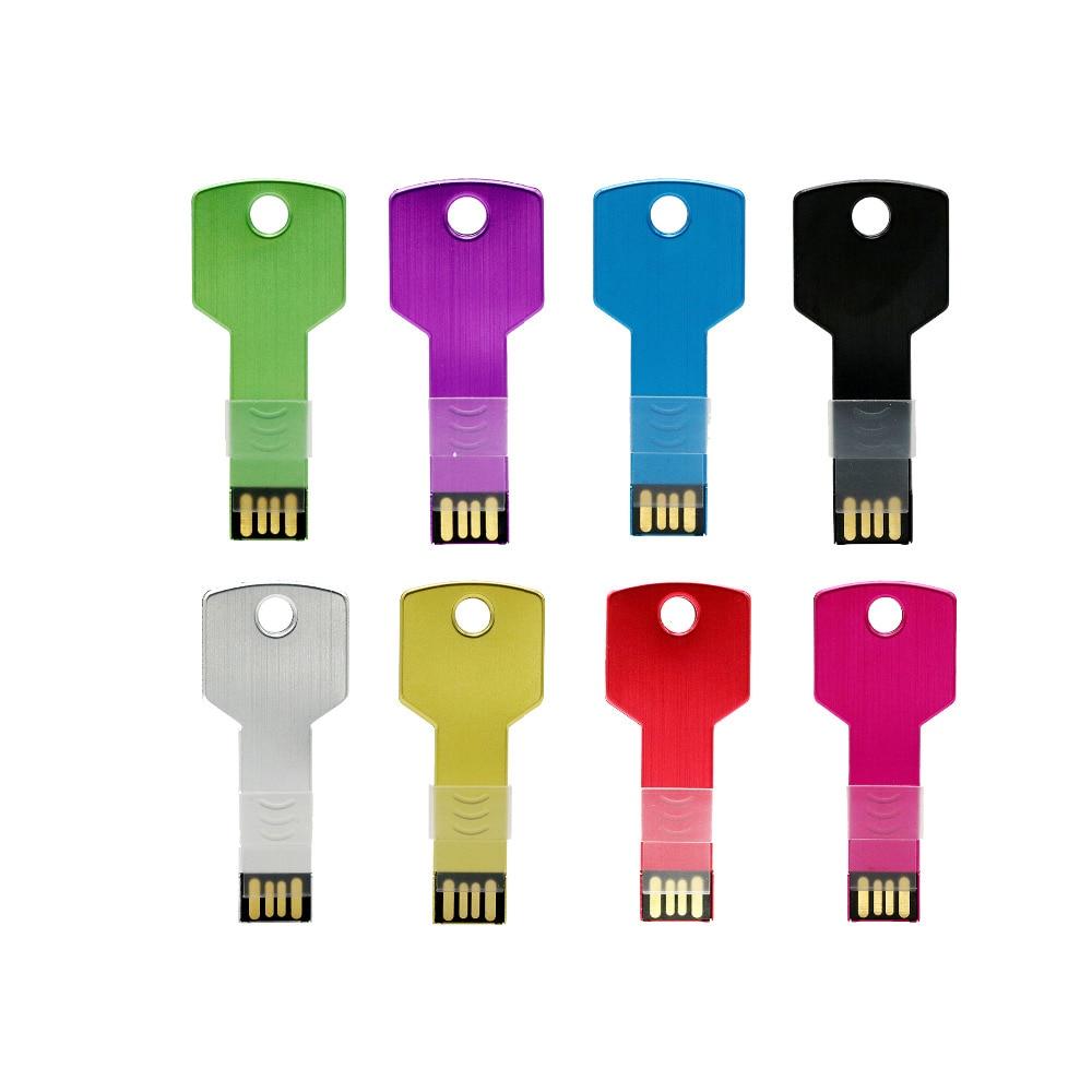 Metal Key 128GB usb flash drive waterproof pen drive 8GB 16GB 32GB 64GB pendrive usb 2.0 flash drive memory stick