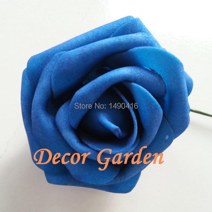50 PCS Royal Blue Wedding Decorative Flowers Artificial Roses Royal Blue Flower