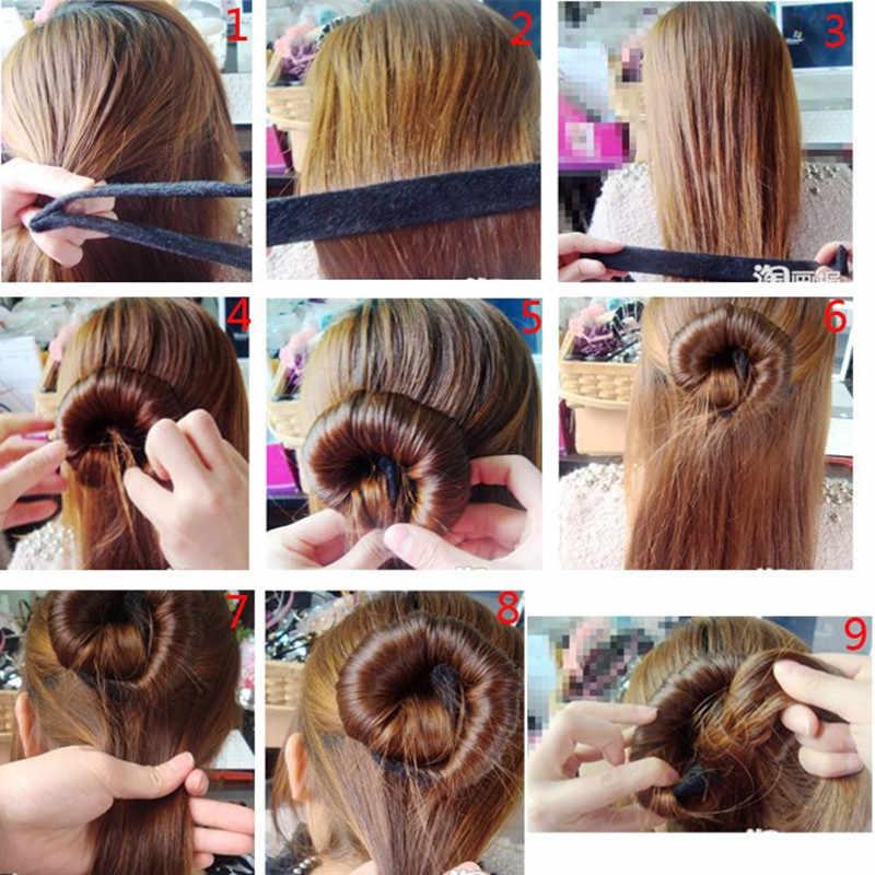 M MISM, новые аксессуары для волос, синтетический парик, пончики, бутон, головная повязка, шар, французский твист, волшебный DIY, аксессуар для пучка, блюдо, сделанное, лента для волос
