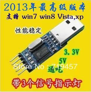 цена на FREE SHIPPING Usb ttl serial brush plate pl2303hx module mcu stc download cable
