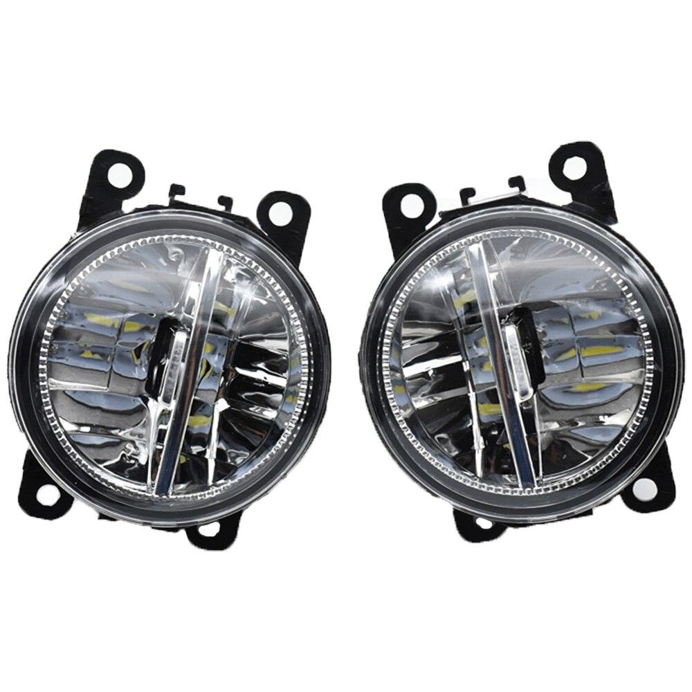 H11 12V Car Styling Round Front Bumper LED Fog Lamps Halogen Fog Lights For FORD EcoSport 2013 2014