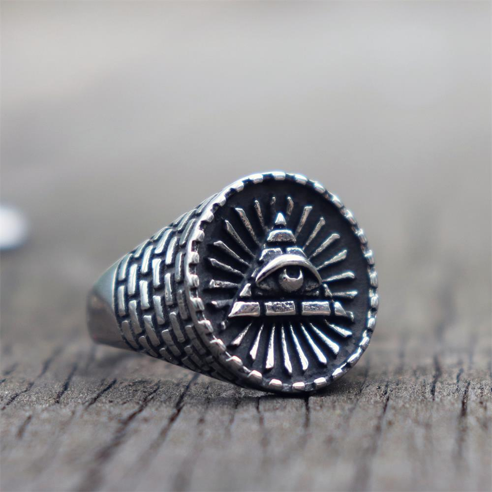Eye of Providence Masonic Ring