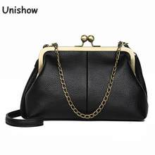 Unishow Vintage Shoulder Bags Women Small Chain Crossbody Bags Kiss Lock Designed Brand Women Messenger Bags Sac Bolsa(China)