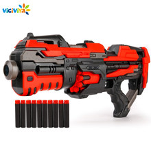 Electric Auto Toy Gun CS Assault Snipe Weapon Bullet Bursts Gun Funny Outdoor Pistol Toys with 10pcs darts Bullet free(China)