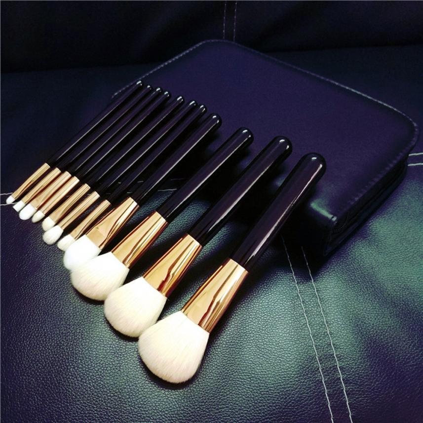 Blush Lip Makeup Brushes Powder Liquid Cream Cosmeti 11Pcs Makeup Brush Set Professional Goat Hair Face Eye Shadow Mar7 7pcs makeup brush set professional face eye shadow eyeliner foundation blush lip make up brushes powder liquid cream cosmetics