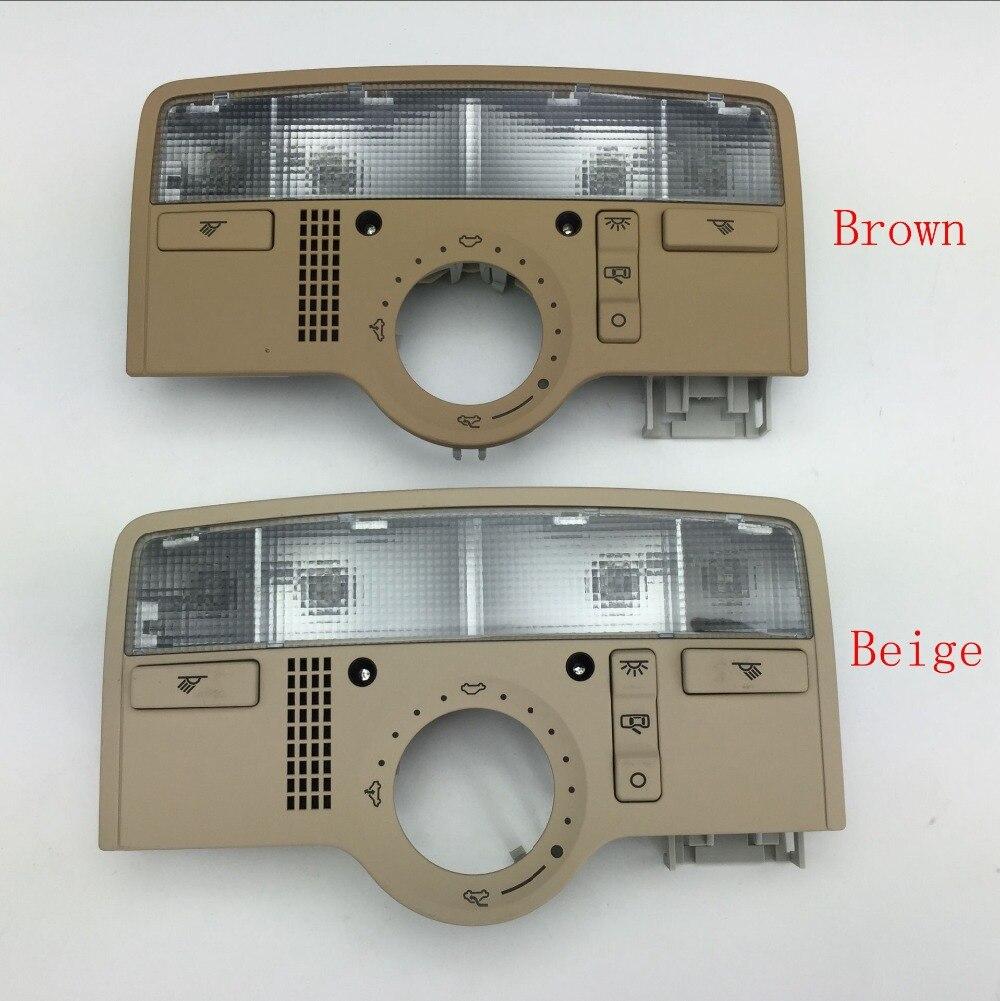 Pour VW Passat B5 intérieur Beige dôme couleur marron clair lampe de lecture avec toit ouvrant lucarne 3BD 947 105 A/3B7 947 106 B