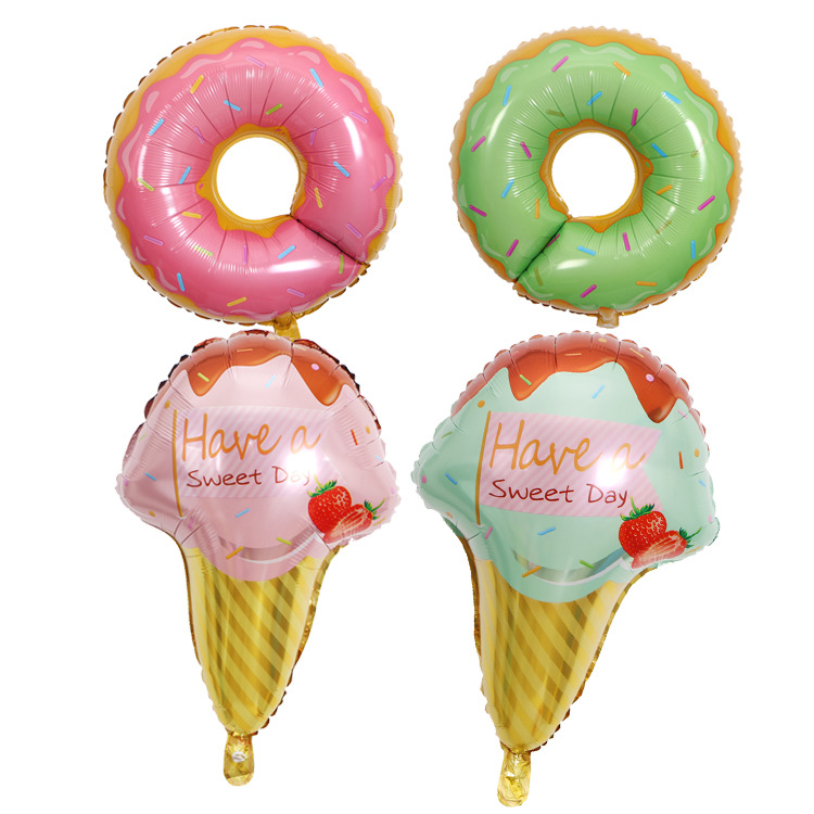 Home & Garden Professional Sale Candy Doughnut Ice Cream Theme Helium Foil Balloons Baby Birthday Wedding Party Decor Supplies Kids Toy Relieving Rheumatism And Cold Ballons & Accessories