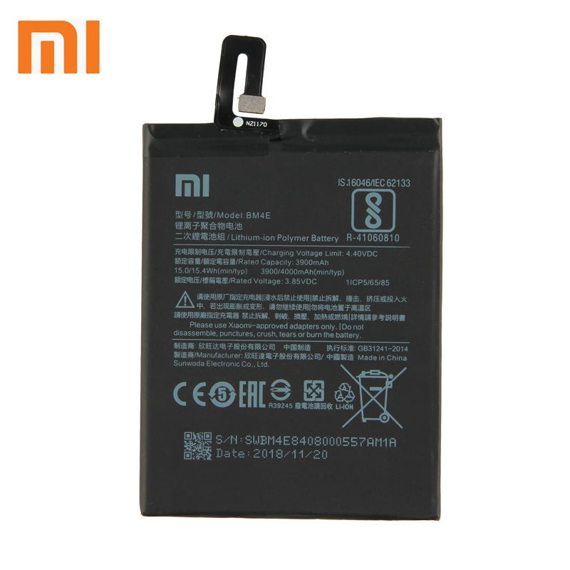 Xiao Mi Xiaomi Mi BM4E Phone Battery For Xiao mi Pocophone F1 BM4E 4000mAh Original Replacement Battery Tool in Mobile Phone Batteries from Cellphones Telecommunications