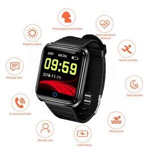 Reloj inteligente deportes actividad Monitor de ritmo cardaco sangre presin pulsera IP67 impermeable banda podmetro para IOS And(China)