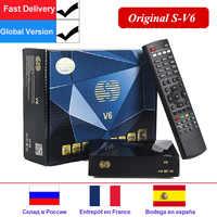 S-V6 DVB-S2 Mini receptor de satélite Digital apoyo Xtream NOVA 2 xUSB WEB TV 3G módem Biss clave DLNA DVB s2 satélite Receptor V6