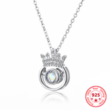 Fashion Silver 925 Necklace 100 Languages Crown Smart Necklaces For Women Jewelry
