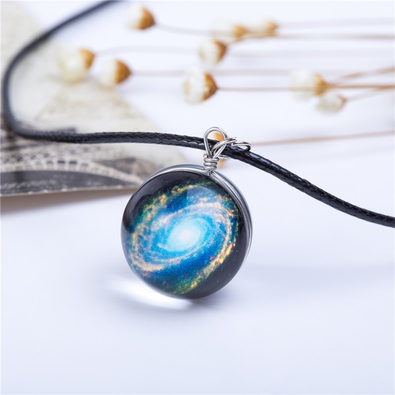 HTB1kHVYKVXXXXaRXVXXq6xXFXXXh - Collares Duplex Planet Crystal Stars Ball Glass Galaxy Pattern