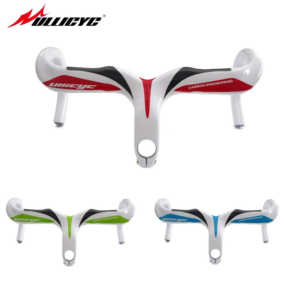 carbon road handlebar racing road bike handlebar bicycle carbon integral handlebar size 400 420 440 90