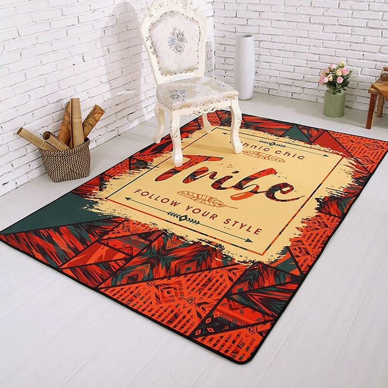 Washable Living Room Floor Mat Anti Slip Bedroom Sleeping Area Rug Table Sofa Carpet