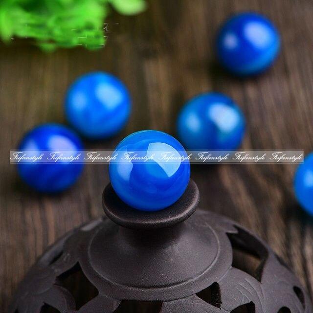 1 Stuck Von 1 8 2 Cm Blau Achat Ball Quarz Kristall Stein Ball