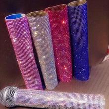 Funda decorativa para micrófono, adorno de cristal, Marco ostentoso