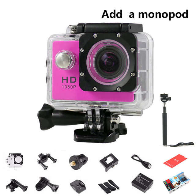 SJ 4000 Sport DV + Monopod Mini Action DVR 720P HD Micro Camera Video Recorder Waterproof Helmet Cam for go pro Mini Camcorders