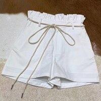 Летние повседневные шорты женская одежда 2019 женские европейские шорты размеры шорты средней талии женские белые элегантные шорты высокого