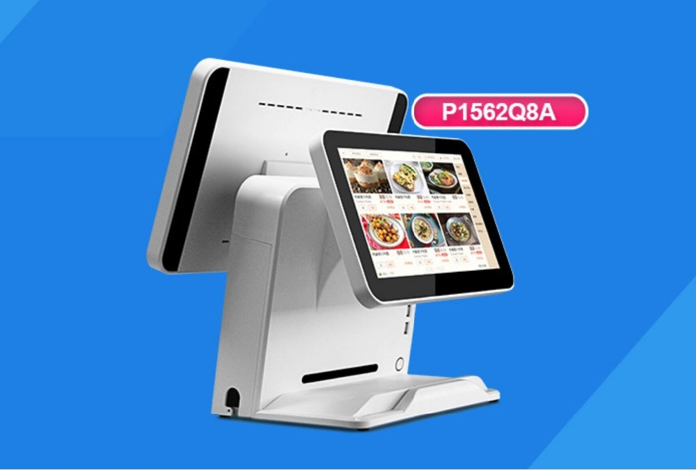15.6 Inch POS Machine Dual Screen, Android System Touch Screen AIO POS