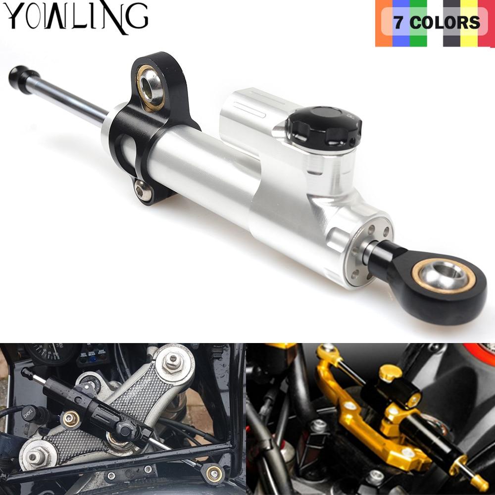 Universal Adjustable Motorcycle Steering Damper For Yamaha XJR1300 FZ1 FAZER MT07 MT 09 FZ6N YZF R125 R3 R6 R1 XT660 XT 660 adjustable long folding clutch brake levers for yamaha mt 07 14 15 2015 fz 8 fazer 11 12 13 mt 09 sr fz9 fz 1 n 06 07 08 09 10
