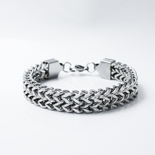 Sangsy Heavy Cuban Chain Bracelet Men Silver Stainless Steel Curb Chain Link Bracelet Biker Hip Hop Men Jewelry Party Gifts