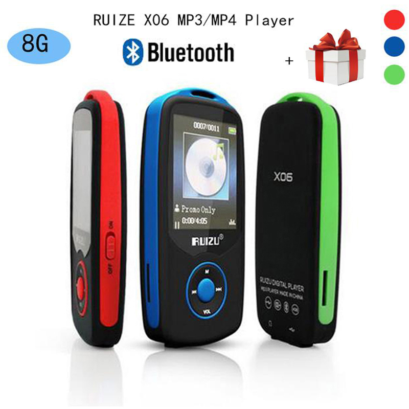 Updated Version Original RUIZU X06 Bluetooth MP3 Music Player with 1 8 Inch Screen High Quality