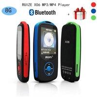 Version mise à jour D'origine RUIZU X06 Bluetooth MP3 Lecteur de Musique avec 1.8 Pouce Écran Haute Qualité Enregistreur Vocal FM Radio walkman