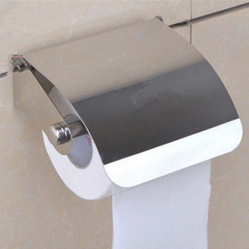 HOT 1PCS Amazing Durable Stainless Steel Toilet Paper Holder Tissue Paper  Holder Box Holder Roll Bathroom Accessories In Paper Holders From Home  Improvement ...