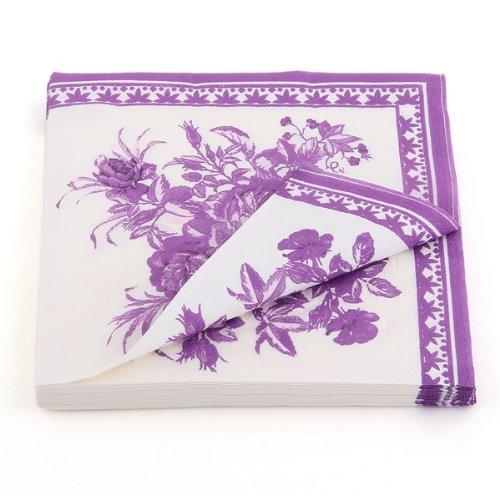 2x Paper Napkin Square Printed Serviettes Party Wedding Tableware Decor Purple