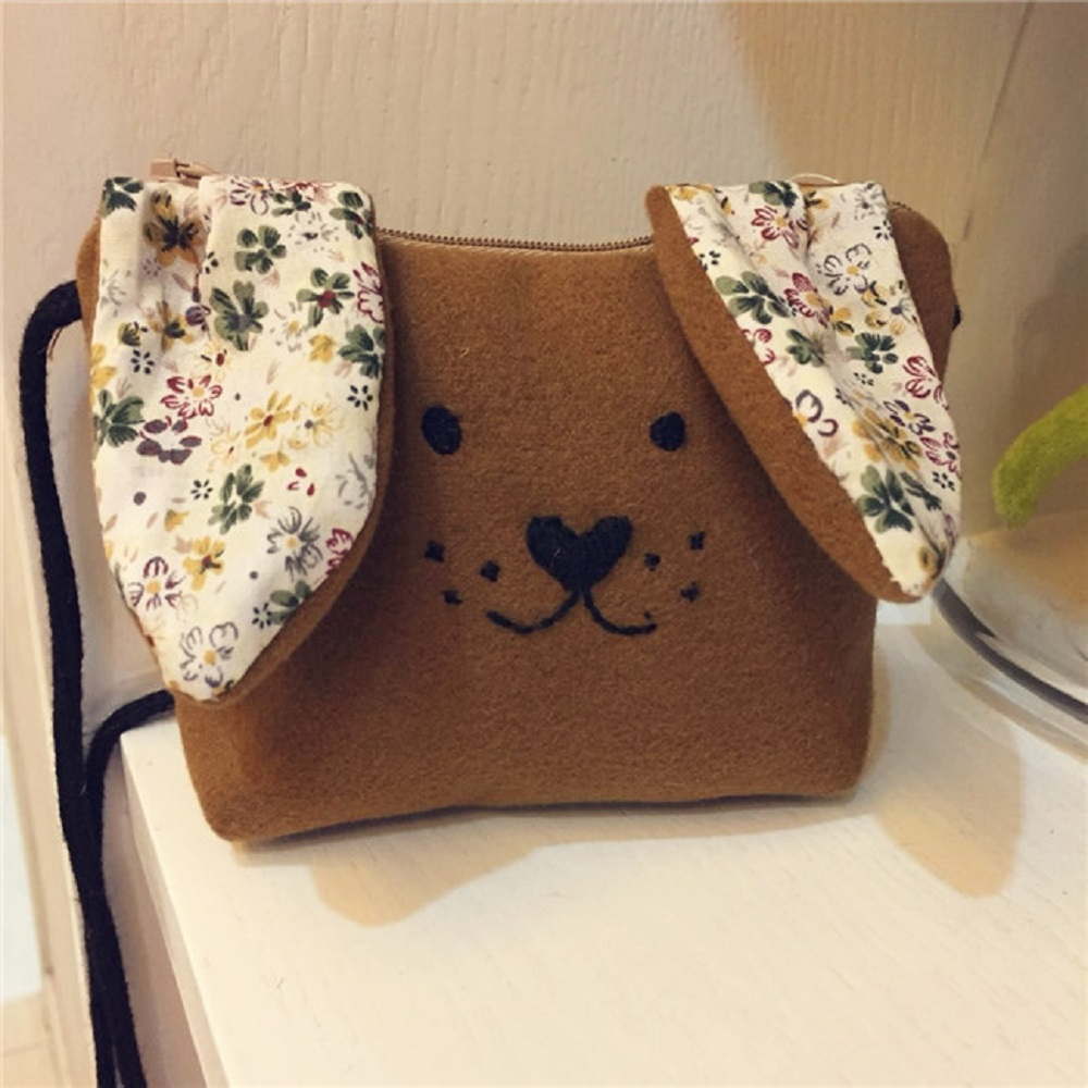 Reether Mini Messenger Bag Childrens Shoulder Bags Kids Coin Purse Cute Puppy Dog Cash Pouch Decoration Gifts