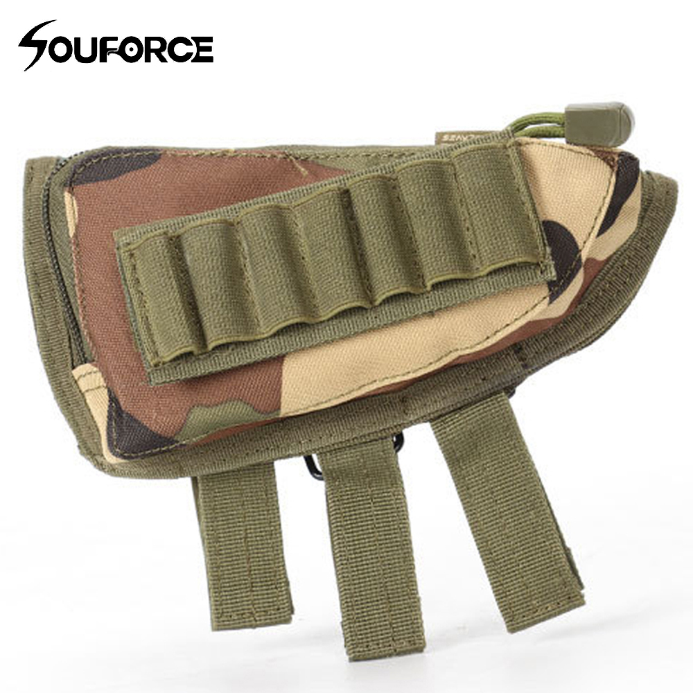 New 9 Color Multi-function Tactical Bullets Bag Nylon Gun Gill Bag Accessories Rifle Stock Ammo Shell Tools for Hunting Shooting