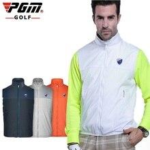 Pgm гольф ветровка жилет водонепроницаемый мужской весенний жилет одежда мужская без рукавов тренировочная спортивная куртка AA11819