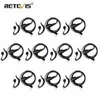 10 pcs G Type Adjustable Volume Earphone PTT Headset Walkie Talkie Headset Accessories For Kenwood/Baofeng UV 5R/Retevis H 777