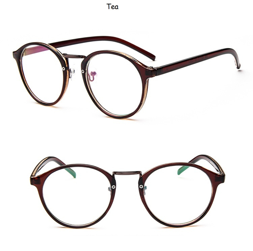 2019 Fashion Transparent round glasses clear frame Women Spectacle myopia glasses Men EyeGlasses Frame nerd optical frames clear in Women 39 s Eyewear Frames from Apparel Accessories