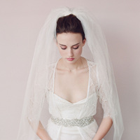 Bridal Veil Wedding Accessories Fashion Luxury Veils With Comb For Bride