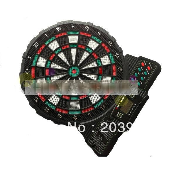 12 inches electronic soft dart target electronic dart board scorer Electronic scoring and sound 18 game 6 soft dart dart board white writing tablet w 2 dart pen multicolor