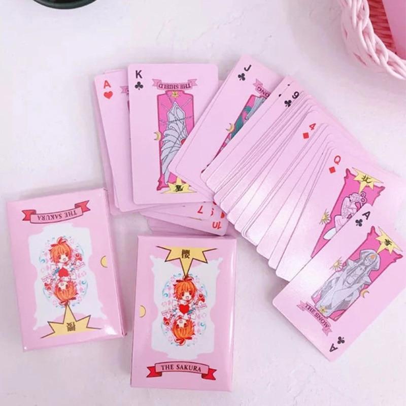 2 Kinds Anime 54 pcs Cosplay Cards Captor Sakura Tarot with Clow Cards Poker Gift Playing Cards 6