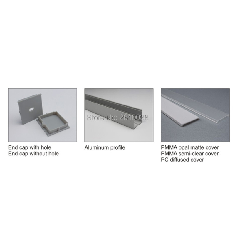 10 X 1M Sets/Lot U Style Anodized Aluminium U profiel and decorative aluminum extrusions for ceiling and wall lights