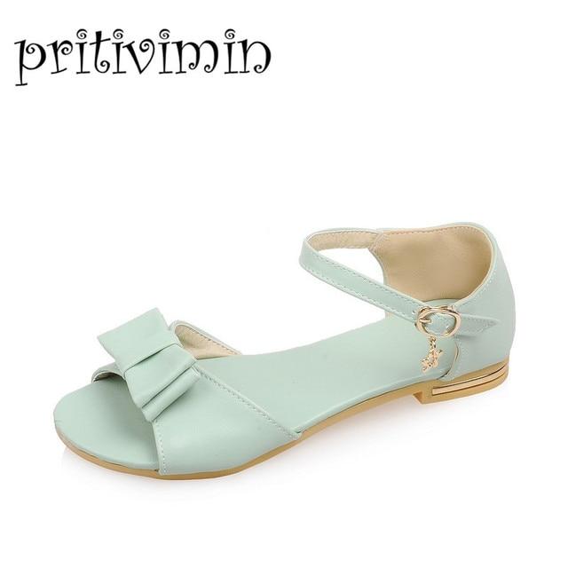 e079f328089c New Summer Lady Strappy Sandals Platform Block Heel White Pink Mint Green  Women Gladiator Flats Girls Shoes Bigger Size 403
