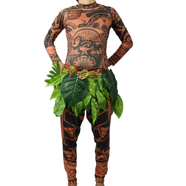 Halloween Mens Moana Maui Cotume Men T Shirt / Pants Adult Maui tatoo Cosplay Costume any size